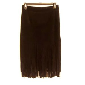 J.O.A. Los Angeles suede Felicia skirt in black S